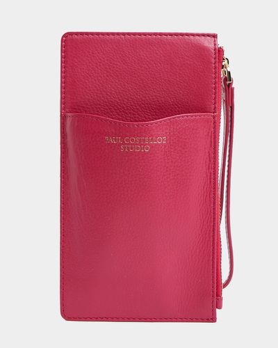 Paul Costelloe Living Studio Pink Leather Phone Card Holder