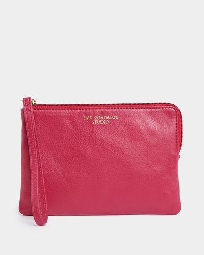 Paul Costelloe Living Studio Pink Leather Wristlet Bag thumbnail