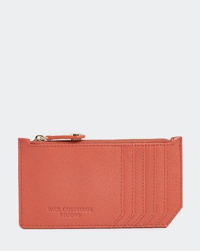 Paul Costelloe Living Studio Coral Leather Zip Card Holder