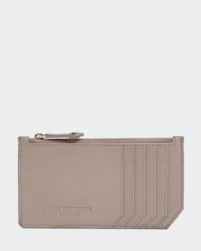 Paul Costelloe Living Studio Mink Leather Zip Card Holder thumbnail