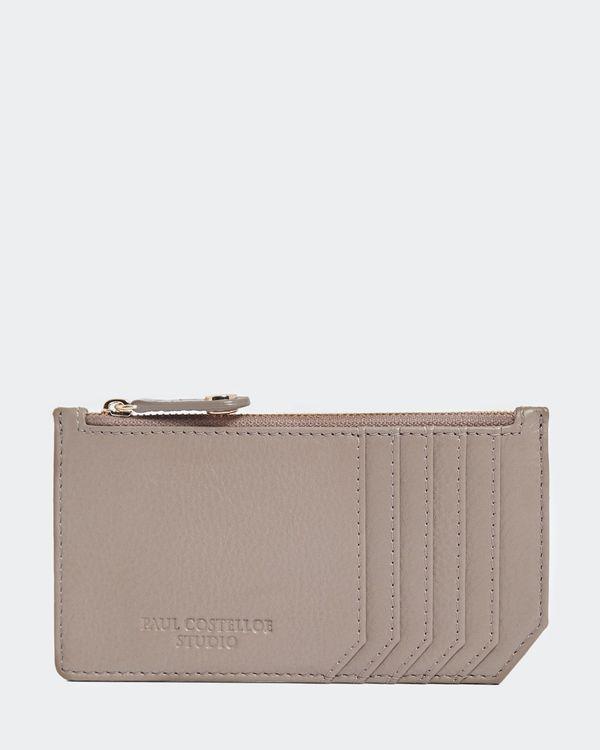 Paul Costelloe Living Studio Mink Leather Zip Card Holder