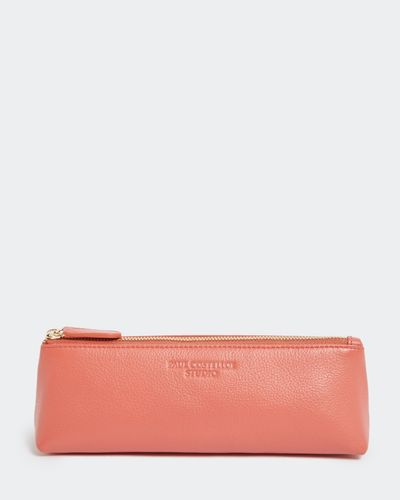 Paul Costelloe Living Studio Coral Leather Pencil Pouch