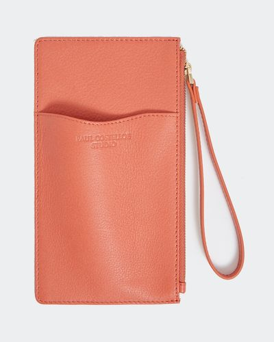 Paul Costelloe Living Studio Coral Leather Phone Card Case