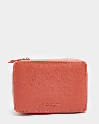 Paul Costelloe Living Studio Coral Leather Trinket Box thumbnail