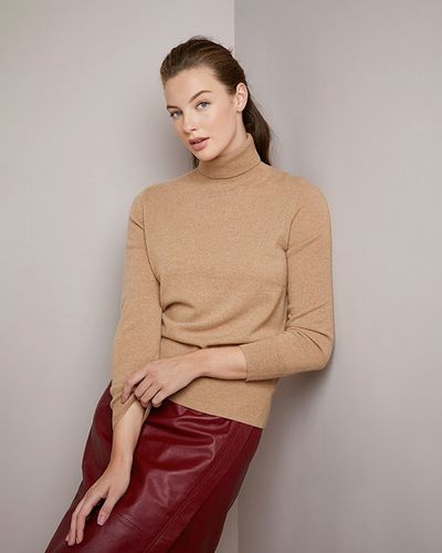 Paul Costelloe Living Studio Cashmere Polo Neck Jumper