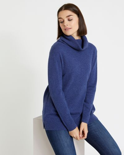 Paul Costelloe Living Studio Cashmere Long Polo-Neck Sweater thumbnail