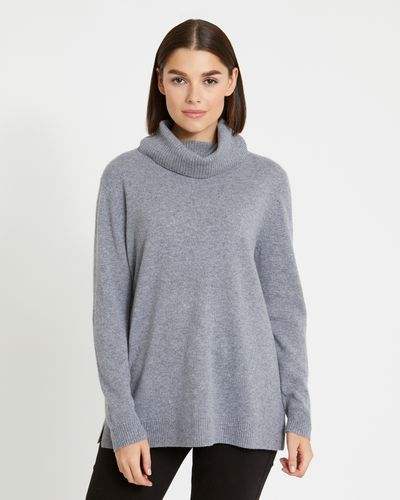 Paul Costelloe Living Studio Cashmere Long Polo-Neck Sweater