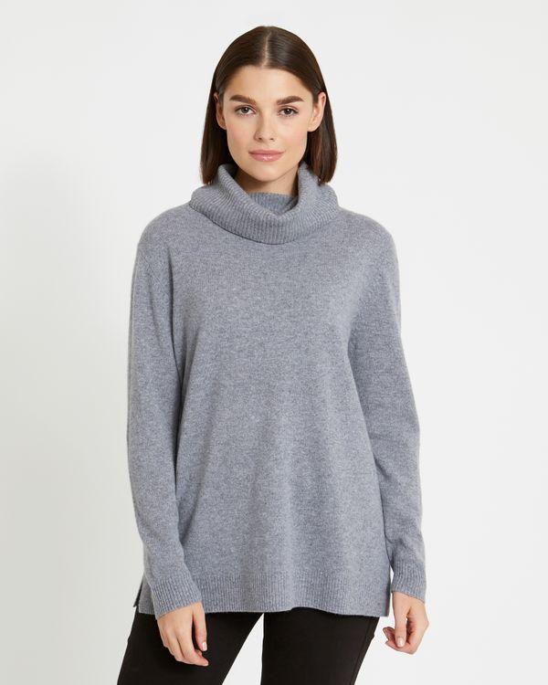 Paul Costelloe Living Studio Cashmere Long Polo-Neck Sweater