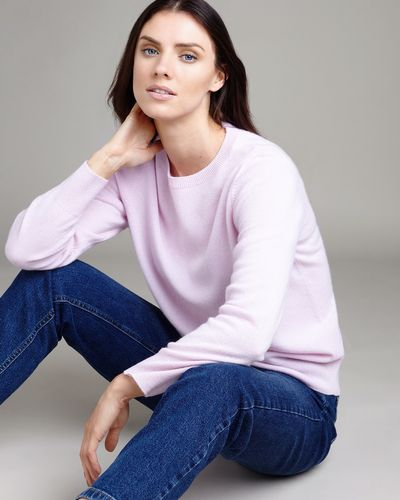 Paul Costelloe Living Studio Light Pink Cashmere Crew Neck Jumper