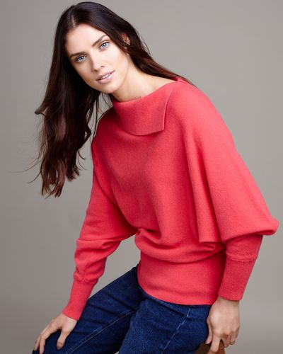 Paul Costelloe Living Studio Coral Cashmere Cowl Neck Jumper thumbnail
