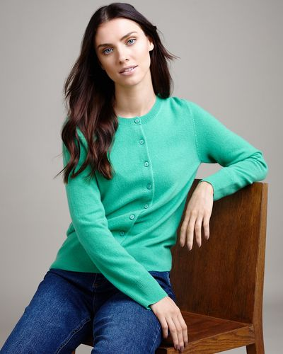 Paul Costelloe Living Studio Green Cashmere Cardigan thumbnail