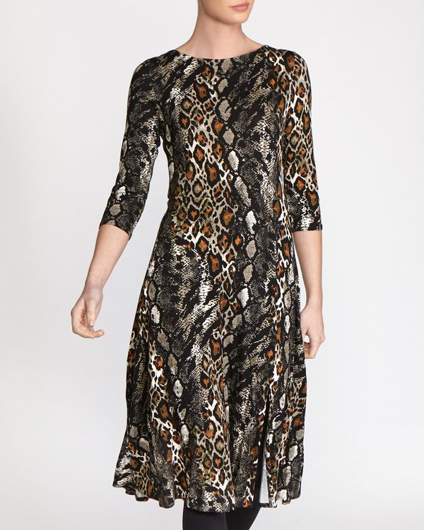 Animal Midi Dress