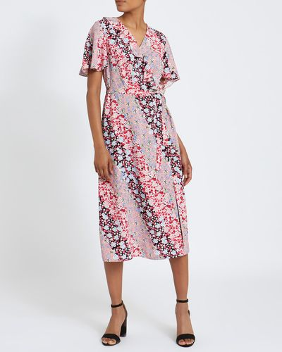 Floral Print Midi Dress thumbnail