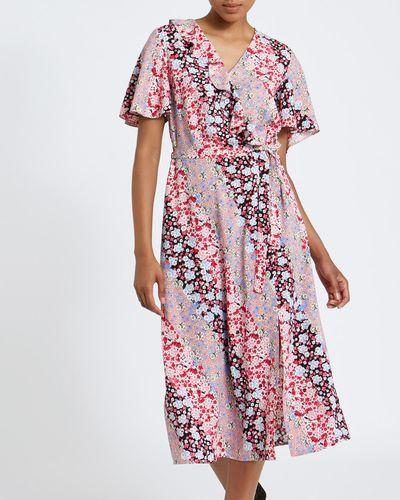 Mixed Floral Midi Dress