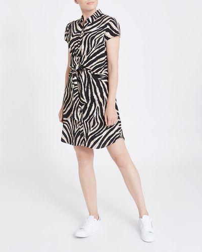 Printed Tie Front Dress
