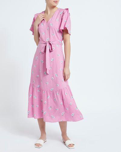 Printed Spun Midi Dress
