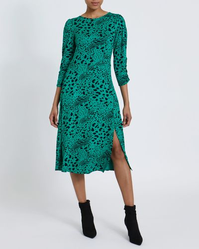 Printed Jersey Midi Dress thumbnail