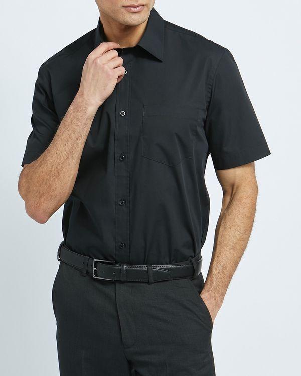 Regular Fit Short-Sleeved Cotton Rich Shirt
