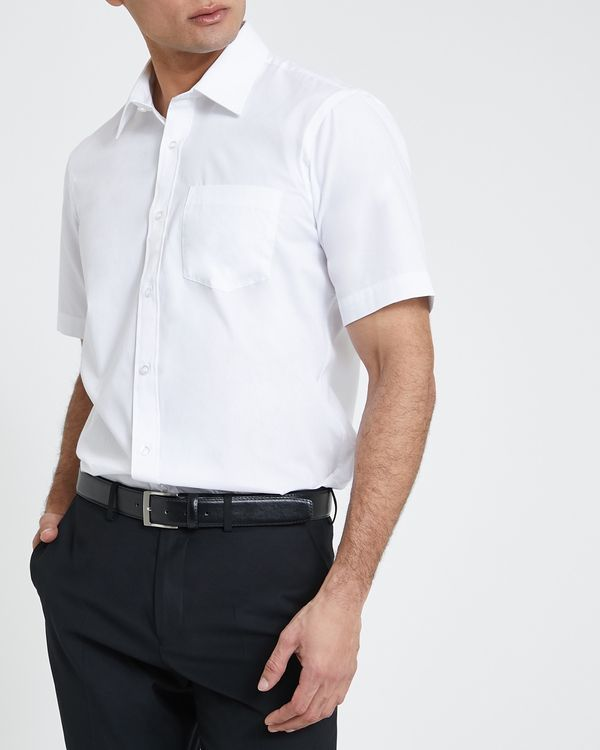 Regular Fit Short-Sleeved Cotton Rich Shirt
