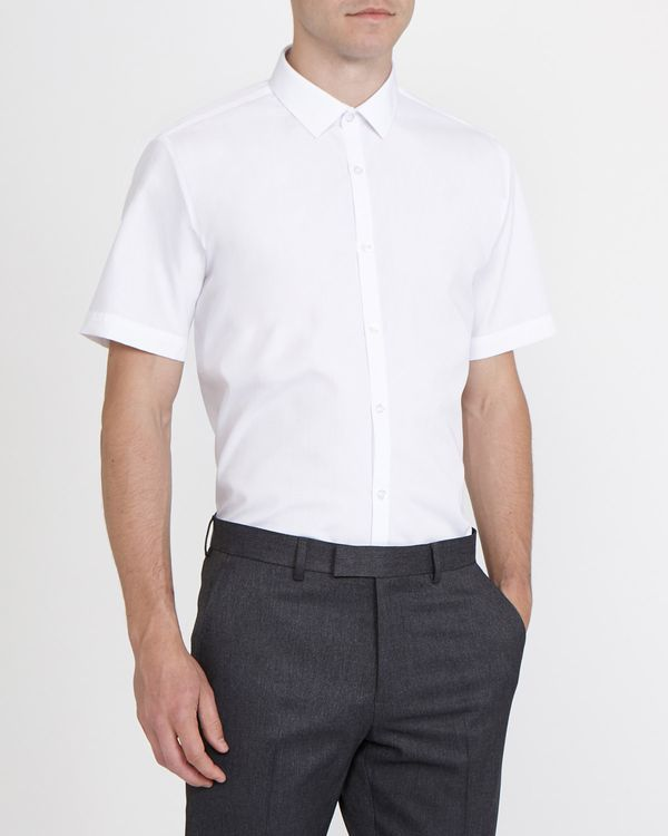 Slim Fit Ultimate Non-Iron Short-Sleeved Shirt - Pack Of 2