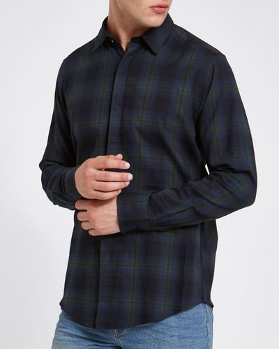 Slim Fit Long-Sleeved Lightweight Flannel Shirt