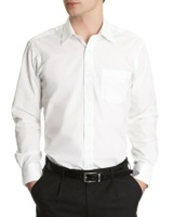 white Regular Fit Long Sleeved Shirt