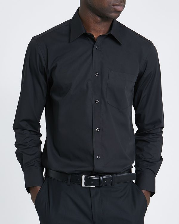 Regular Fit Long-Sleeved Cotton Rich Shirt