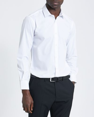 Slim Fit Long-Sleeved Cotton Rich Shirt