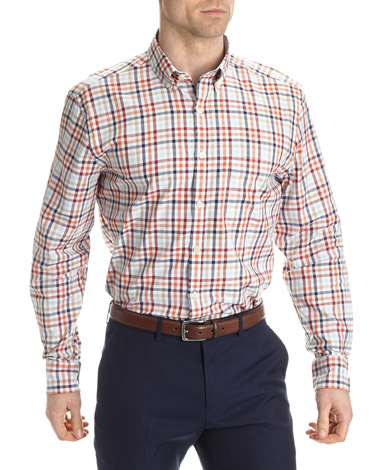 Regular Fit Long Sleeve Country Check Shirt