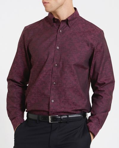 Regular Fit Luxury Jacquard Floral Shirt