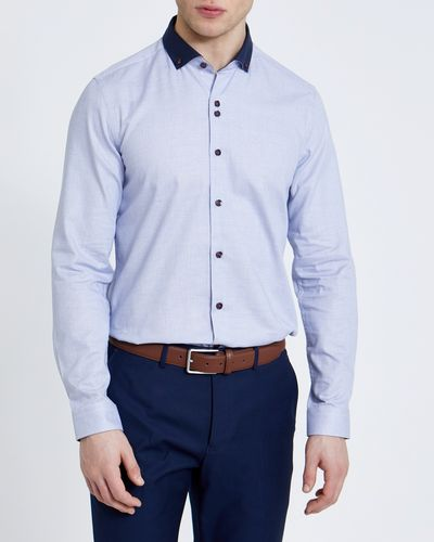 Slim Fit Luxury Smart Collar Shirt