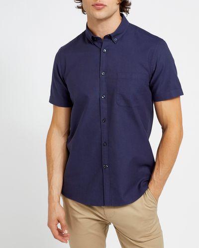 Slim Fit Short-Sleeved Oxford Shirt