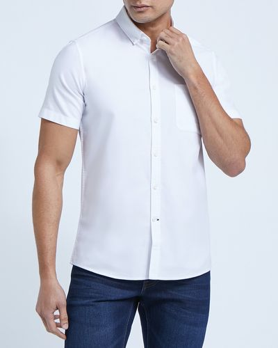 Slim Fit Short-Sleeved Oxford Shirt