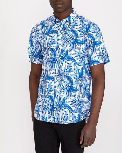 Regular Fit Printed Cotton Modal Shirt