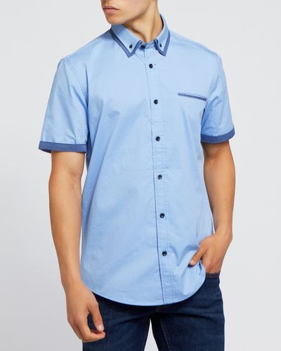 Short-Sleeved Regular Fit Fashion Shirt