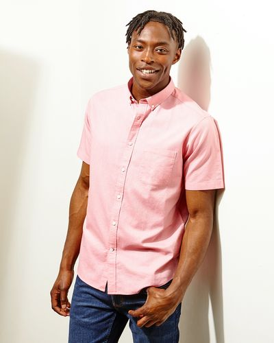 Regular Fit Short-Sleeved Oxford Solid Shirt thumbnail