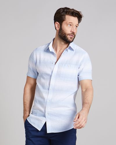 Regular Fit Short-Sleeved Linen Blend Fashion Shirt