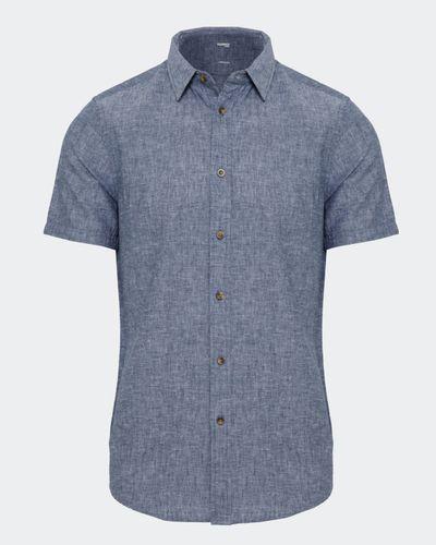 Slim Fit Linen Blend Solid Shirt thumbnail