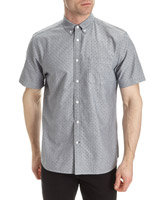 grey Regualr Fit Short-Sleeved Oxford Shirt