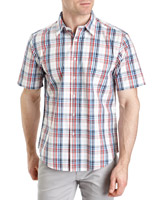 red Regular Fit Cotton Shirt