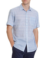 blue Regular Fit Crosshatch Shirt