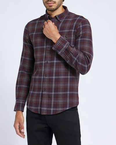 Regular Fit Brushed Check Shirt