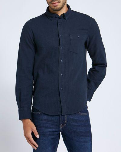 Regular Fit Brushed Solid Shirt