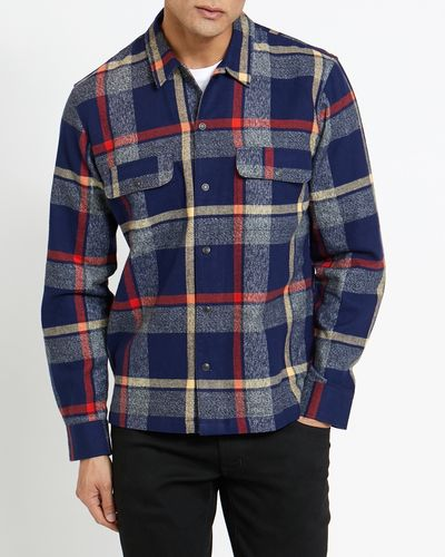 Regular Fit Long-Sleeved Brushed Overshirt
