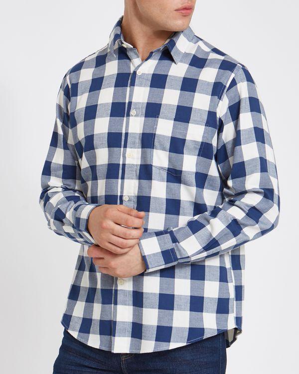 Regular Fit Long-Sleeved Lightweight Flannel Shirt