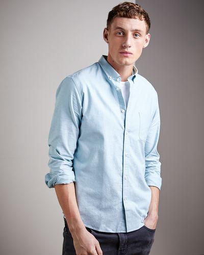 Regular Fit Long-Sleeved Oxford Solid Shirt