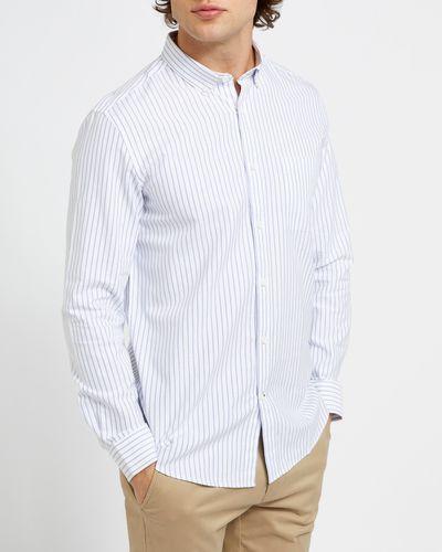 Regular Fit Long-Sleeved Oxford Stripe Shirt