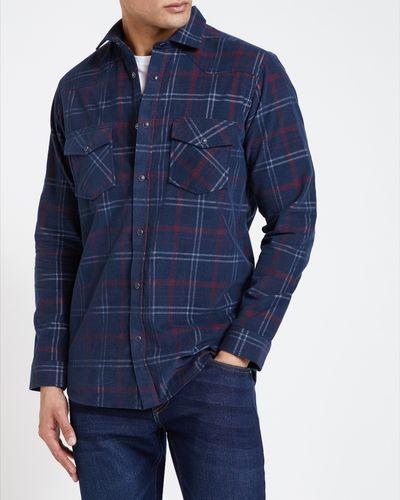 Long-Sleeved Regular Fit Printed Corduroy Shirt thumbnail