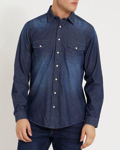 Long-Sleeved Regular Fit Denim Shirt