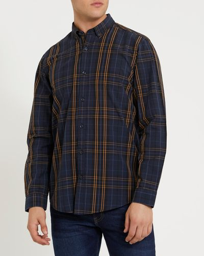 Regular Fit Long-Sleeved Check Shirt